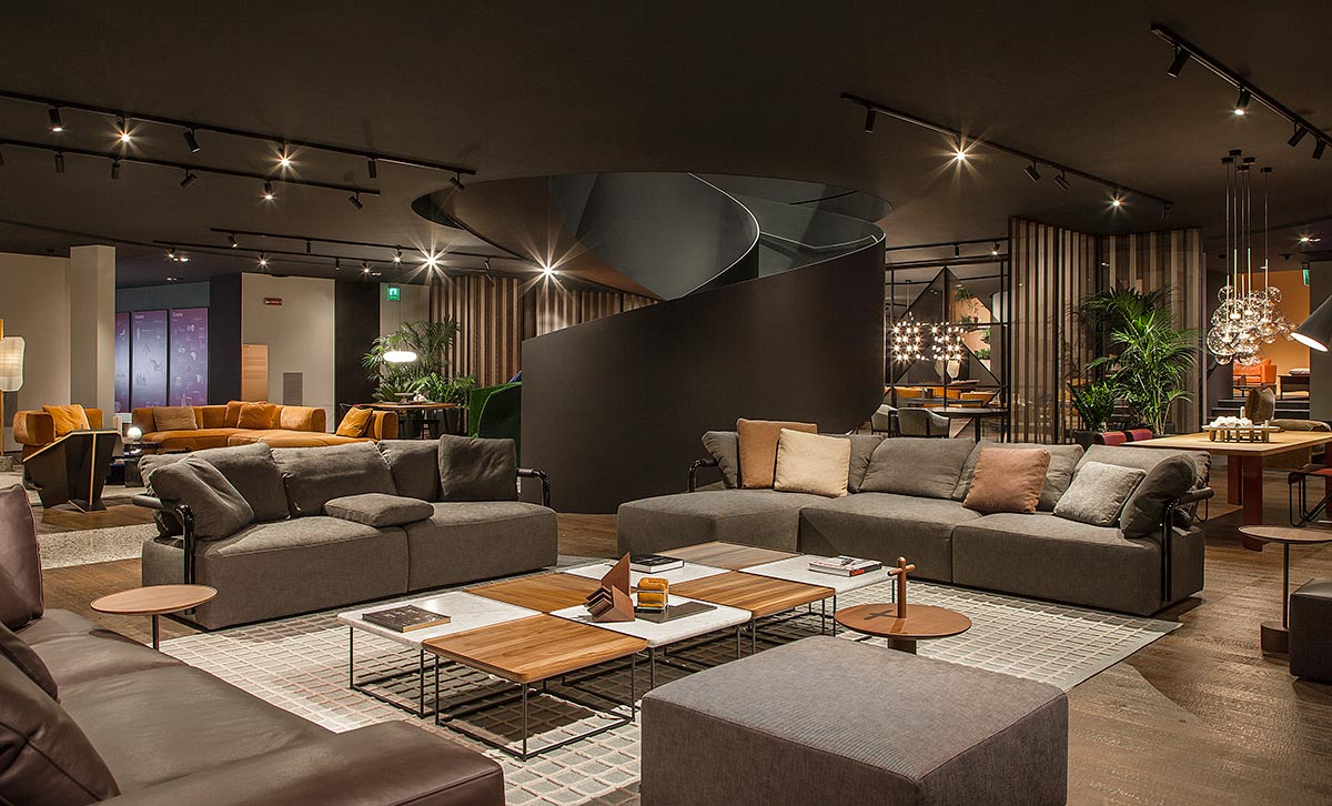 Cassina Milano and Cassina Milano Showroom with modern Italian furniture