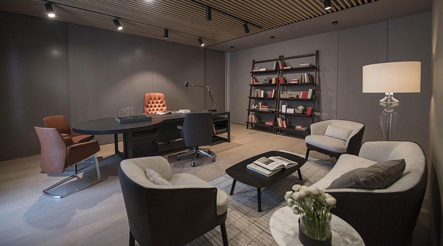 poltrona frau showroom dubai showcasing luxury Italian furniture in dubai