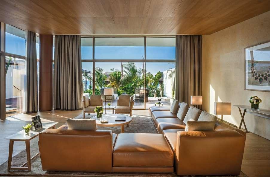 Italian furniture in Dubai inside the bulgari resort entirely furnished with B&B Italia products
