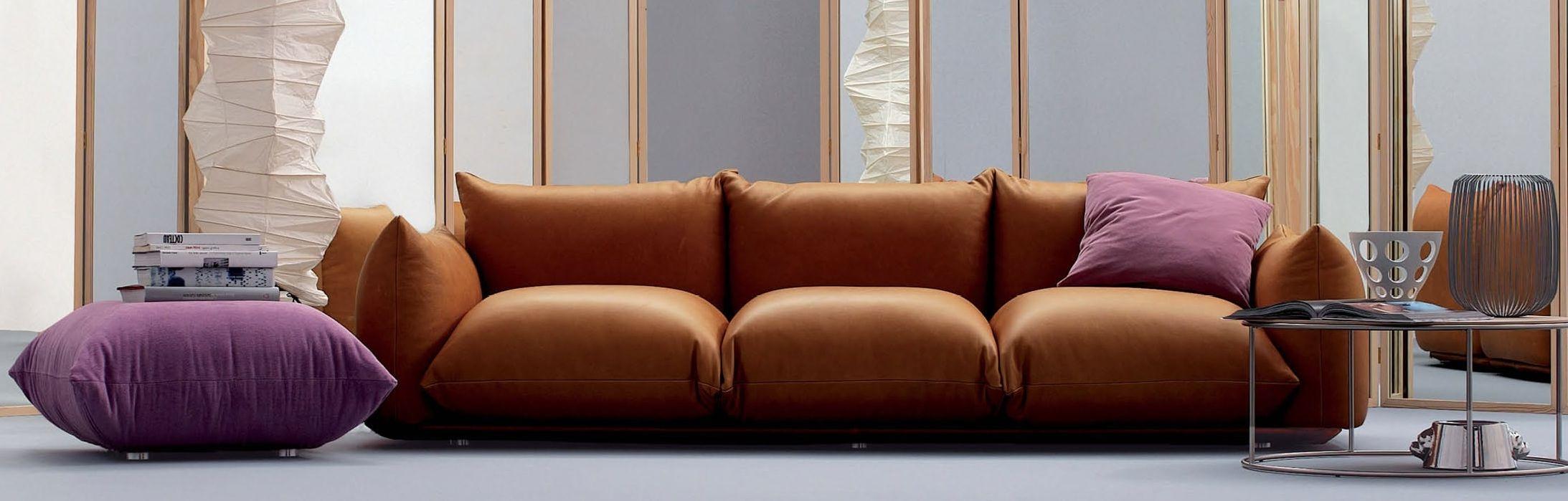 Arflex Marenco Leather Contemporary Italian Sofa