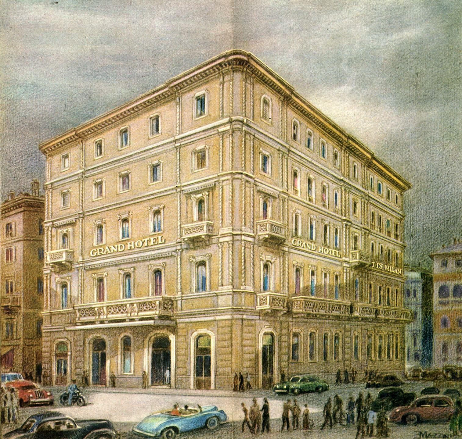 Antique exterior image of Grand Hotel et de Milan