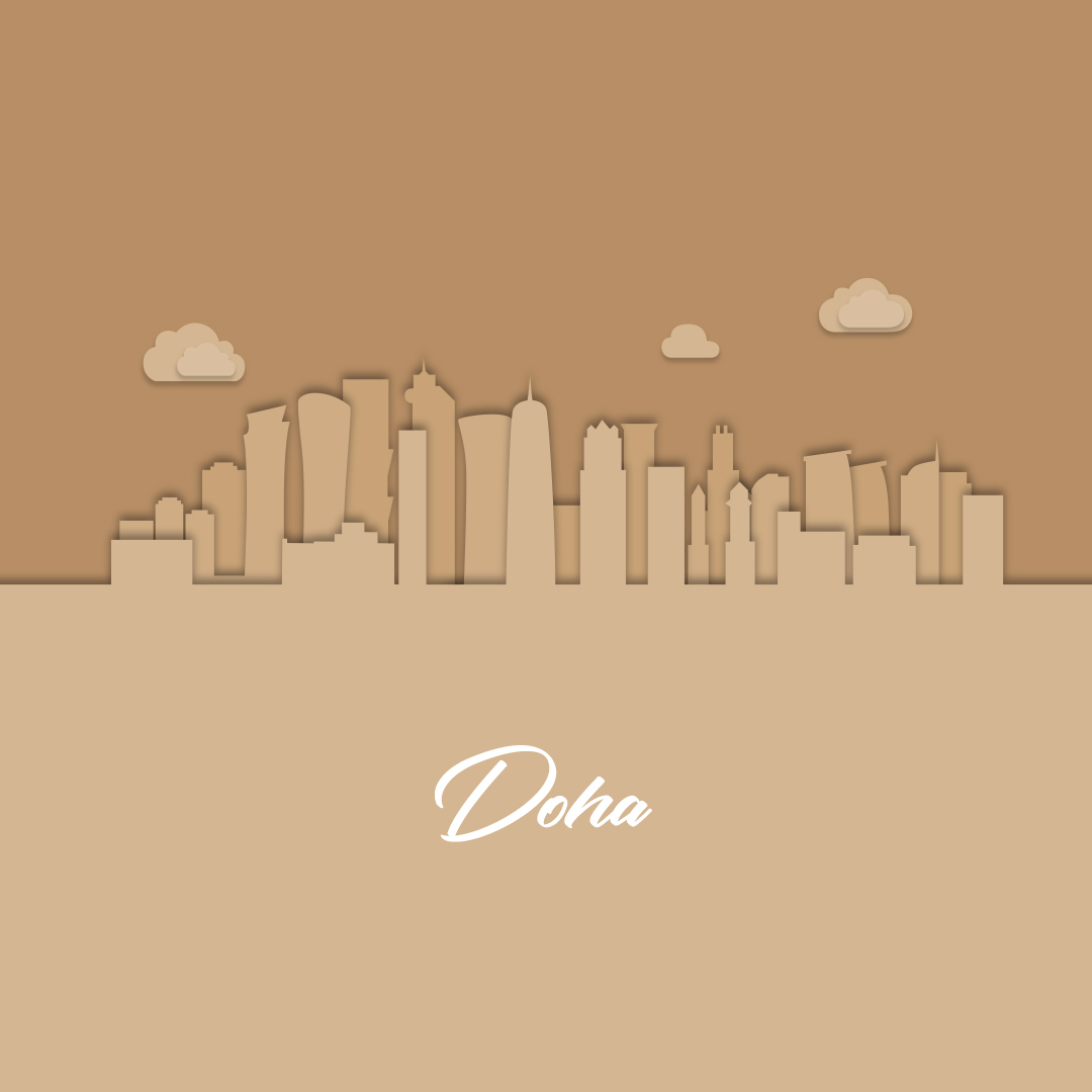 Doha skyline to display our interior design project