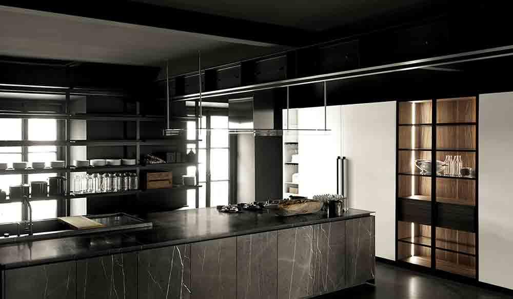 Aprile Boffi Kitchen inside Boffi Milano Showroom in Via Solferino