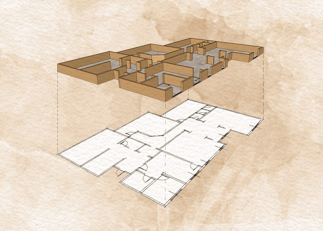 floor plan of the interior design jeddah project developed by esperiri milano