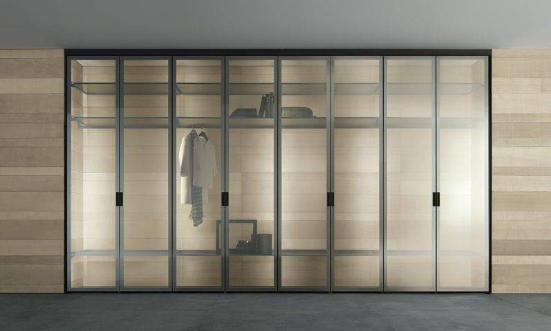 Rimadesio Cover Italian Wardrobe Design with Glass doors