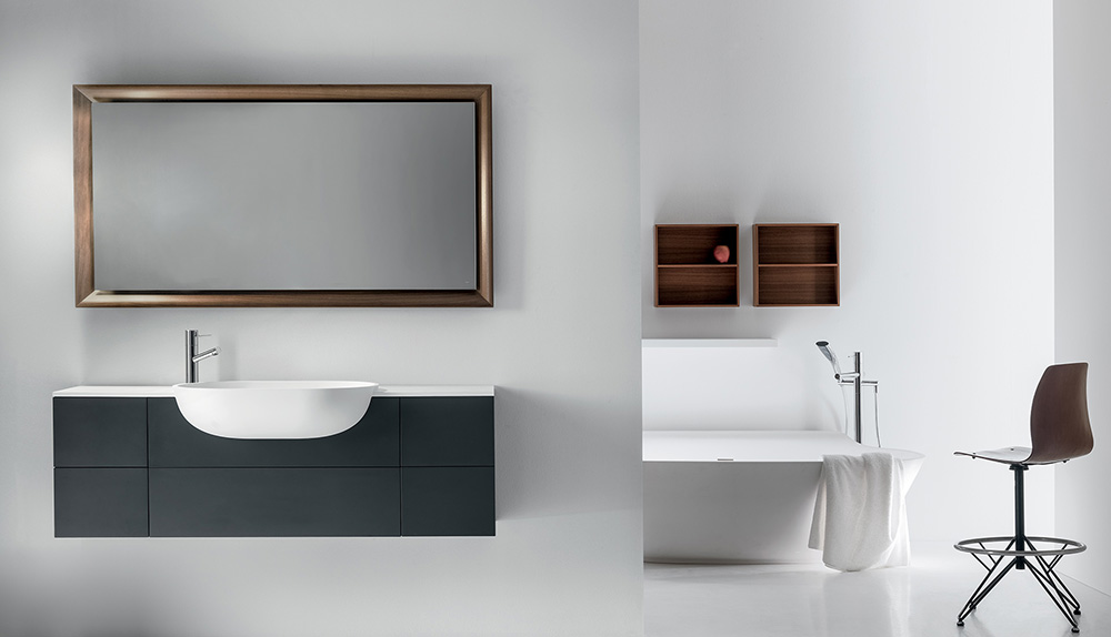 a contemporary bathroom showing  viaveneto collection by Falper bathroom one of the best Italian sanitary ware brands