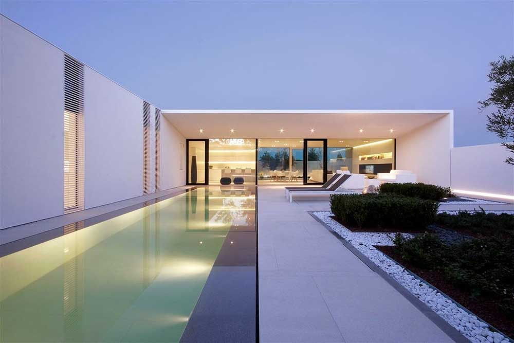 Jesolo Lido Pool villa project by Jacopo Mascheroni a design architecture firm in italy