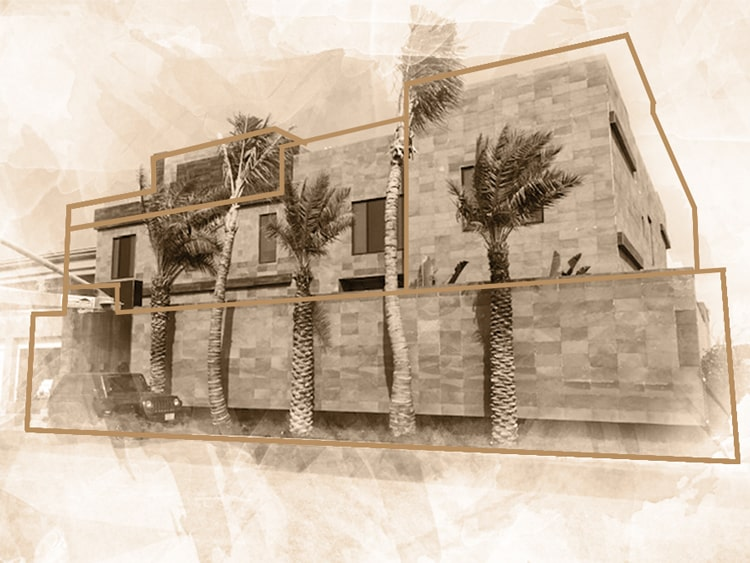 exterior of the luxury villa of the interior design jeddah project of the esperiri milano team of Italian interior designers