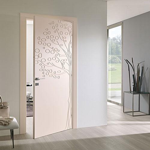 bertolotto natura door with decorated panel