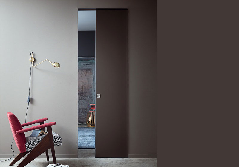 modern sliding door by luadi one of the best italian door manufacturers in a contemporary home