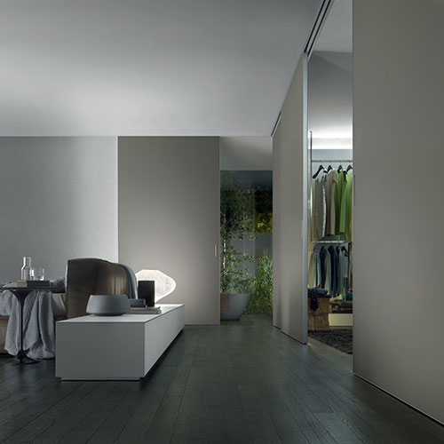 best Italian wooden doors used as a partition in the night area
