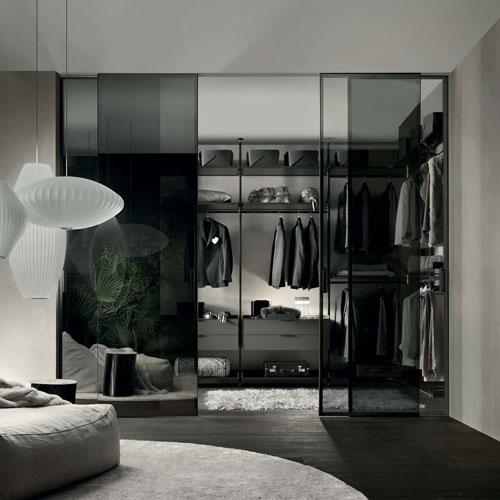 graphis sliding doors in glass by rimadesio the best Italian doors