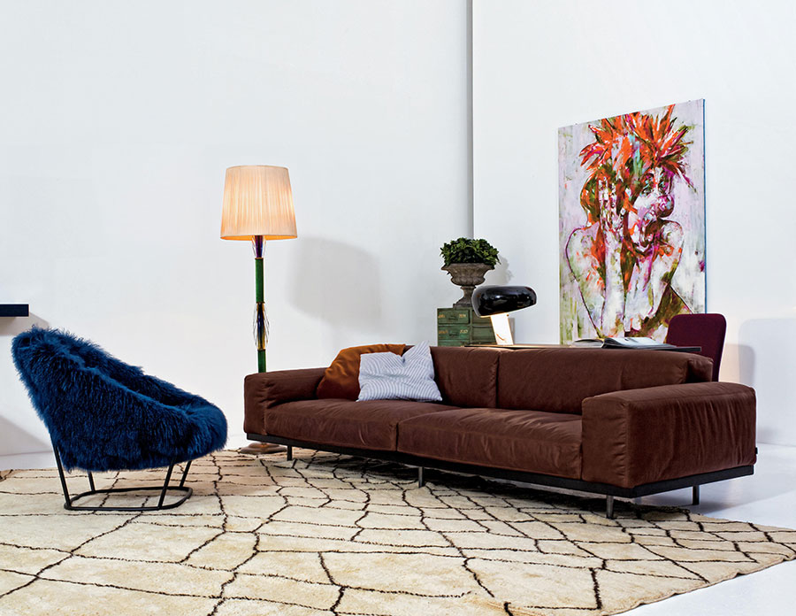 katrin arflex armchair with naviglio sofa pieces of eclectic Italian furniture
