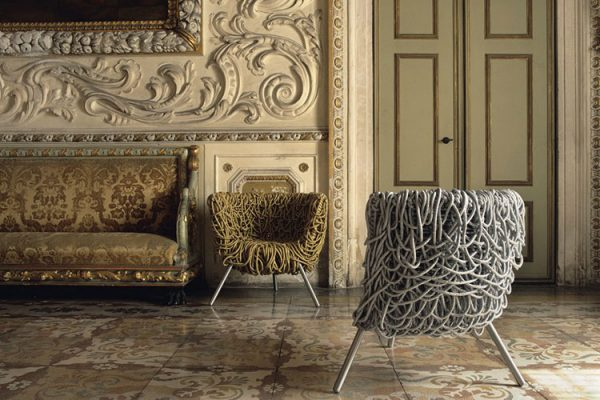 vermelha armchair by edra a piece of eclectic Italian furniture
