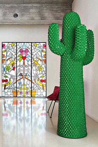 cactus coat hanger by gufram inside some eclectic interiors