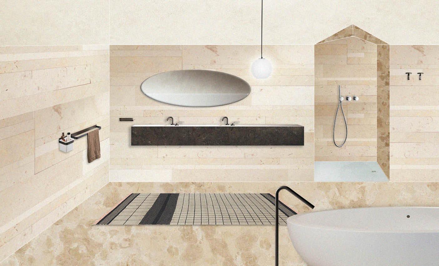 Modern Italian Bathroom: Three Styling Test  Esperiri Milano