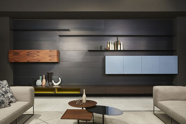 load it system by porro furniture in an Italian contemporary living room