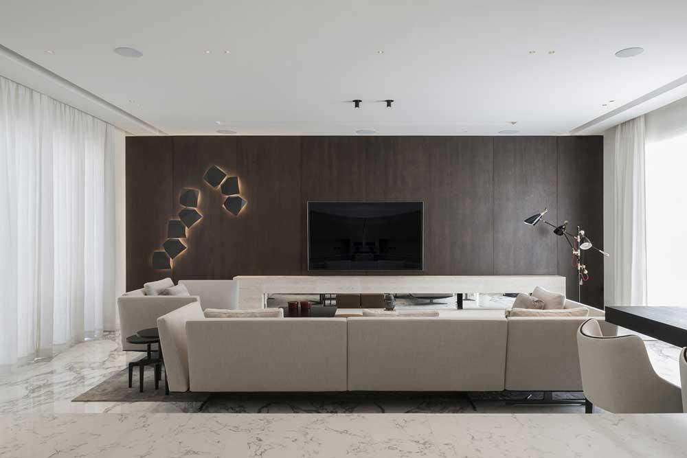 a modern living room displaying italian interior design in Dubai