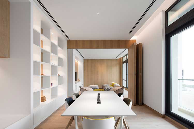 dining room with minimal style designed by one of the best interior designer in Dubai