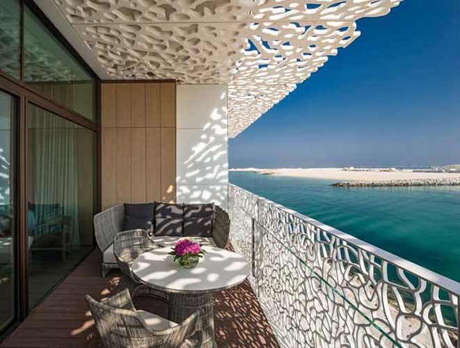 interiors of the bulgari resort in dubai designed by Antonio Citterio showcasing Italian interior design in Dubai