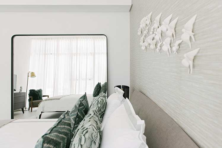 contemporary bedroom designed by one of the top 10 interior design companies in dubai