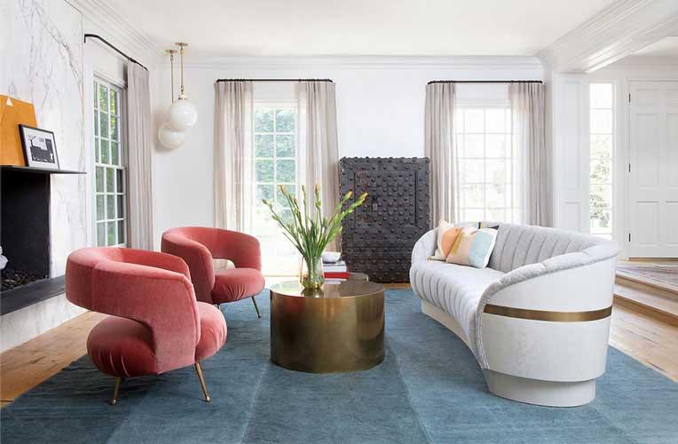 Italian elegant living room design by the best Italian online interior designers