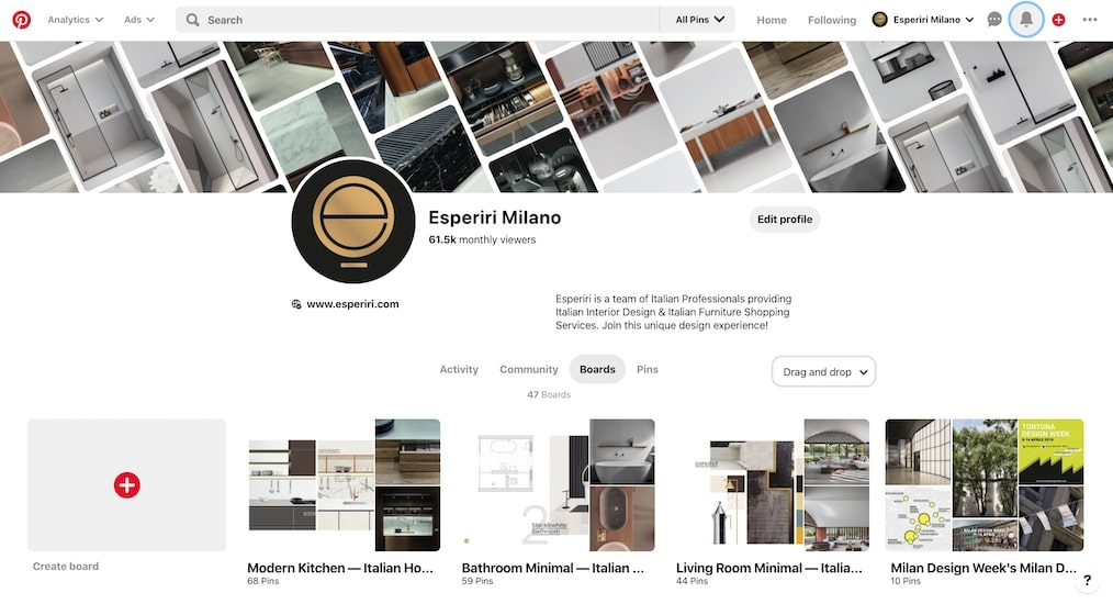 pinterest board of one of the best online interior design service provider