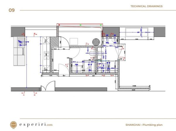 plumbing technical drawings used for a project in shanghai when our italian interior designers were hired online