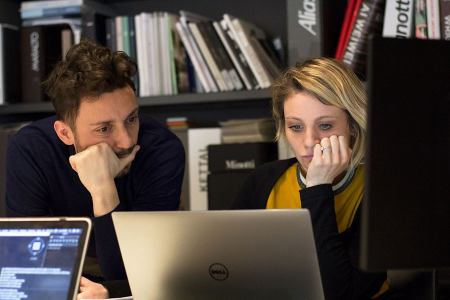 Italian interior designers working in a studio in Milan for a project where the client hire interior designer online