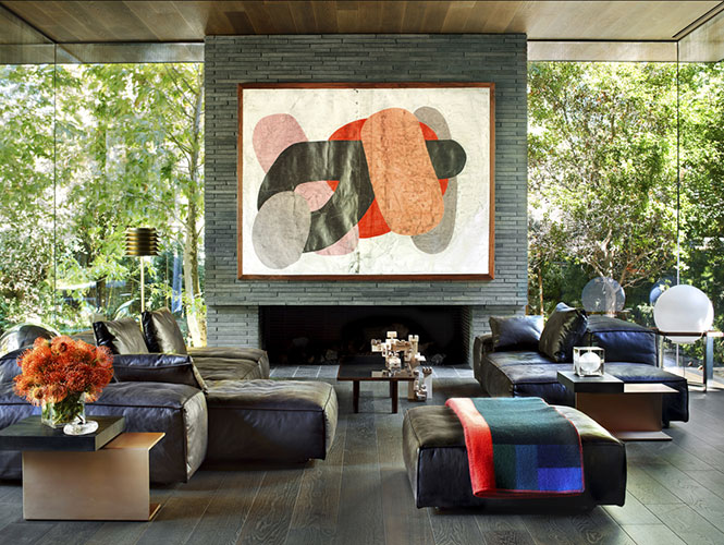 extra soft sofa by living divani in a moden living room designed by a high end interior designer in los angeles