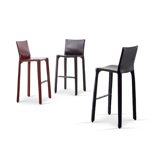 cassina cab stools in leather