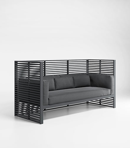 outdoor sofa with high backrest produced by gandiablasco