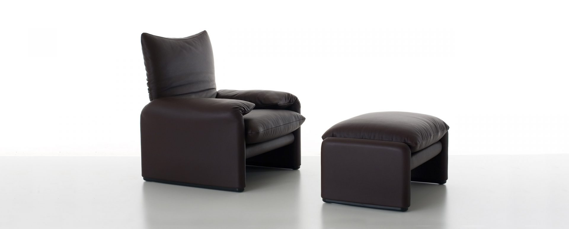 Cassina Maralunga sofa family included also armchair and pouf