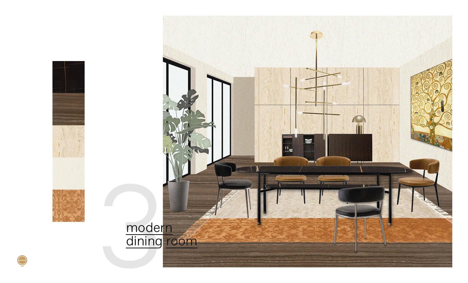 luxury and contemporary Italian dining room set inspiration