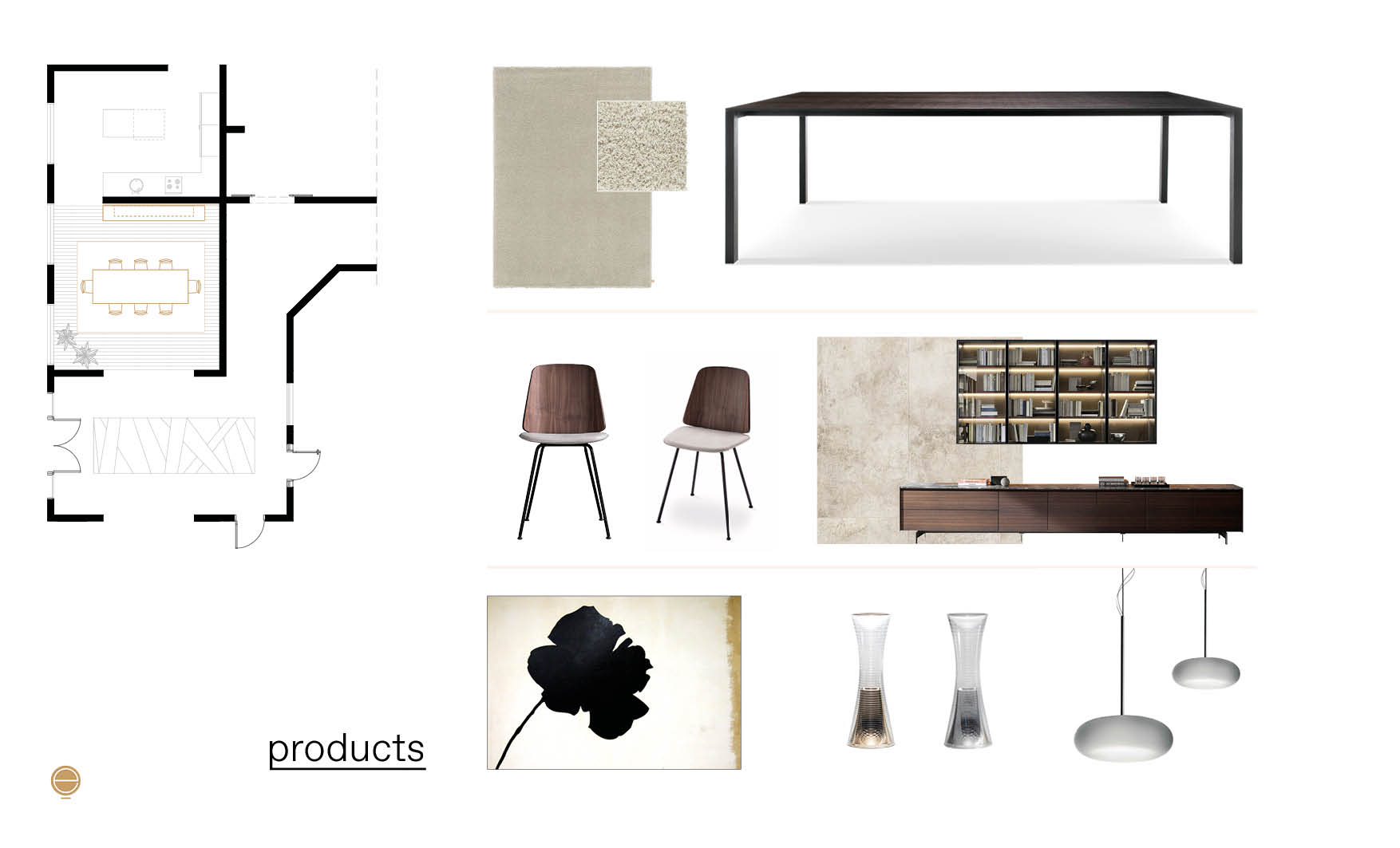 furniture composition for your contemporary Italian dining room set