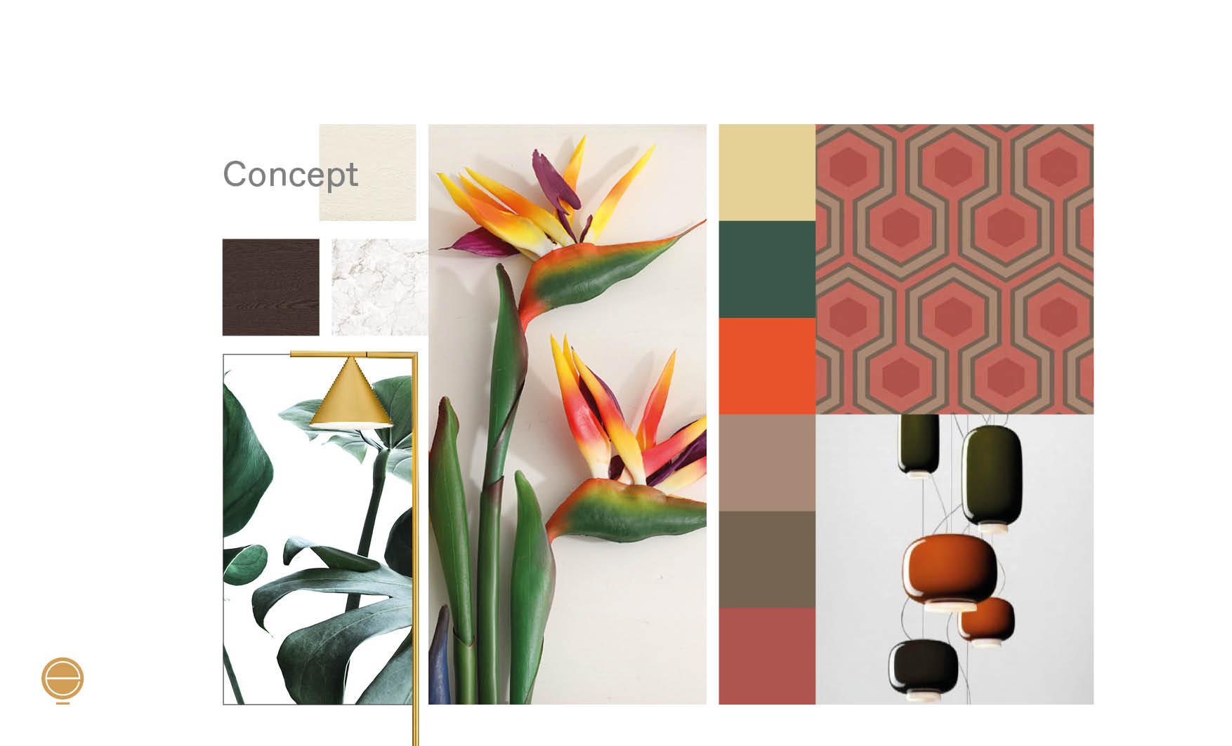 Interior design inspiration moodboard concept by Esperiri