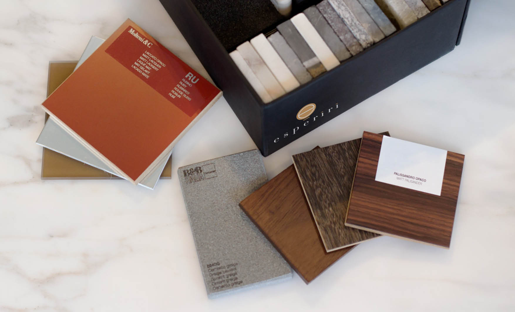 residential interior design materials composition