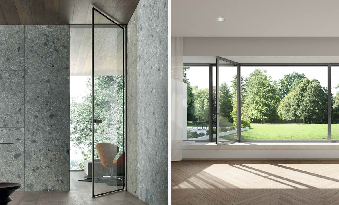Selection of doors and windows are two interior design phases of the project