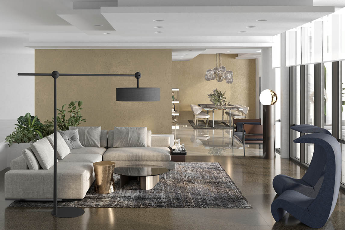 luxury virtual staging and italian interior design project by esperiri milano