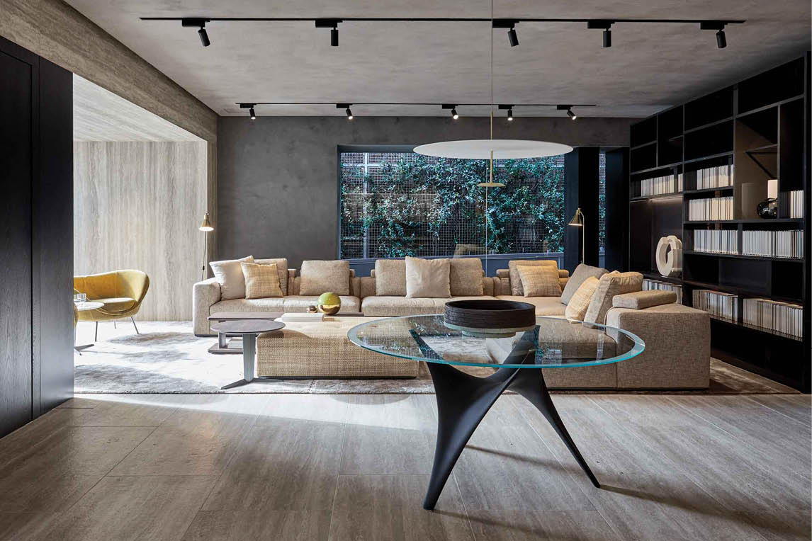 luxury virtual staging throughout high end furniture catalogues on display