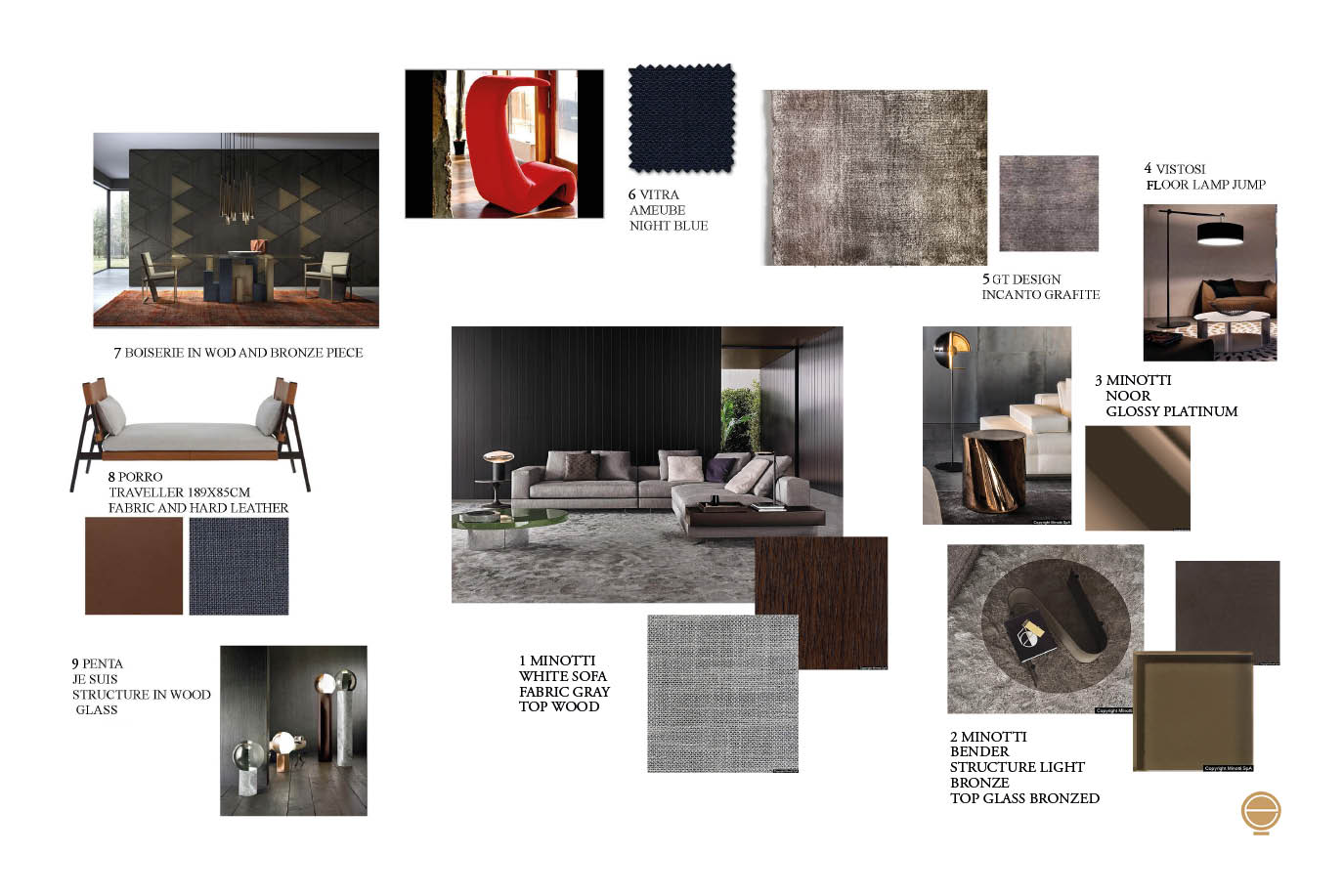 luxury virtual staging and moodboard composition