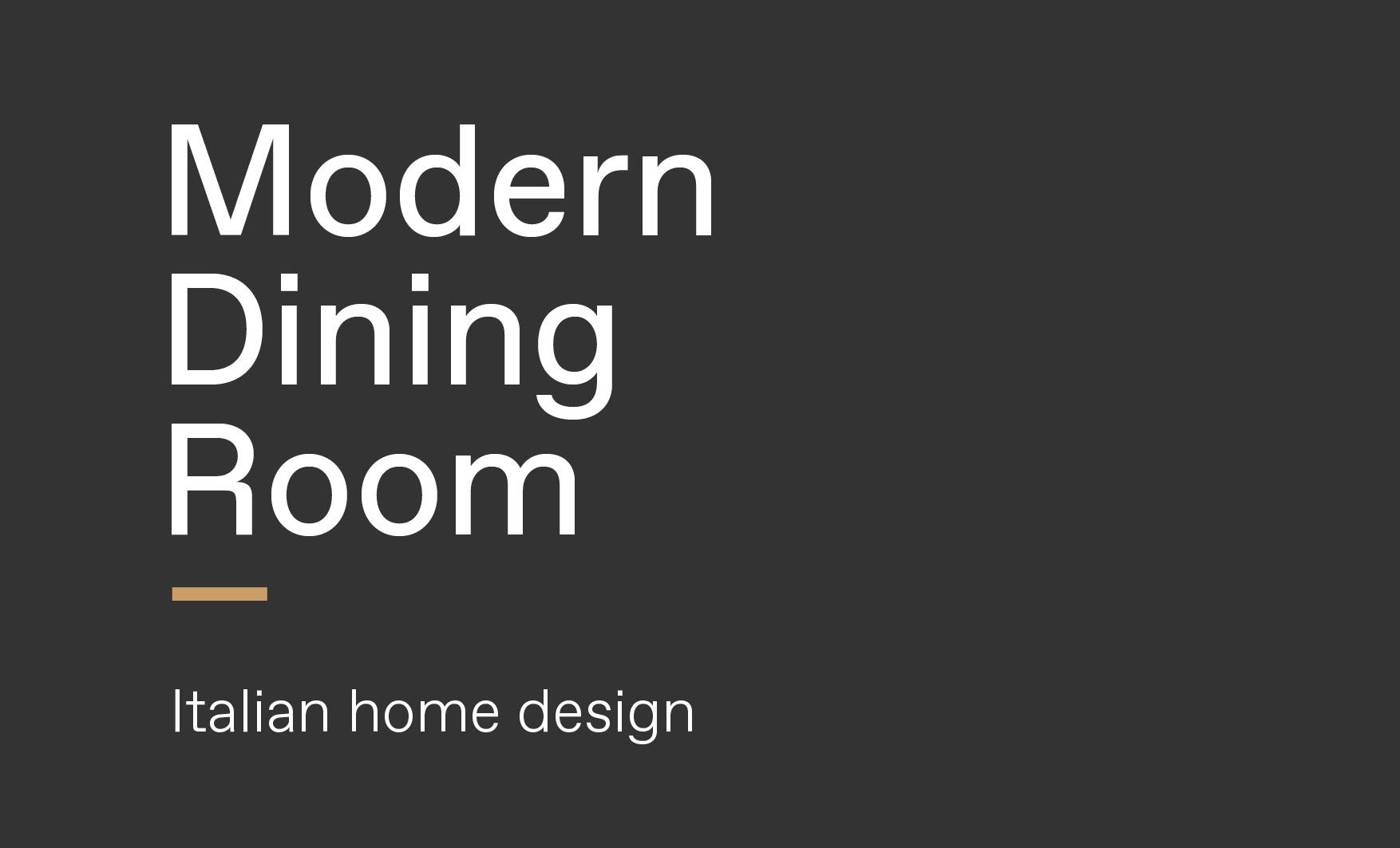 Concept of modern Italian dining room design made by Esperiri team