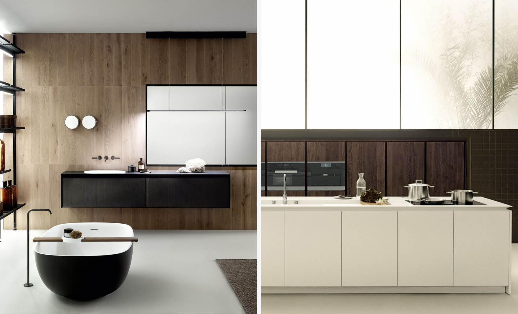Composition of bathroom and kitchen are two important interior design phases during the project process