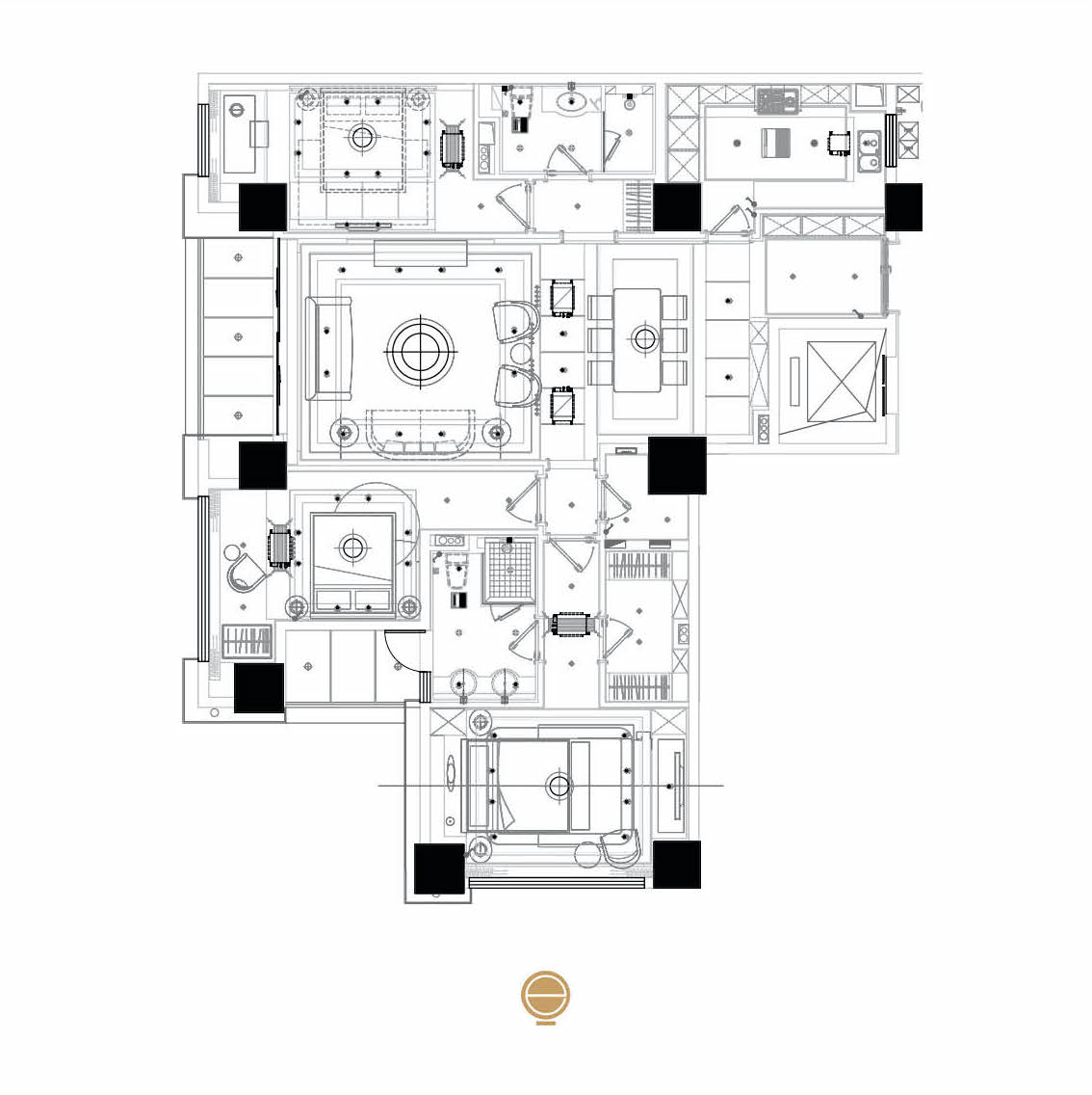 sample flat interior and project plan esperiri milano