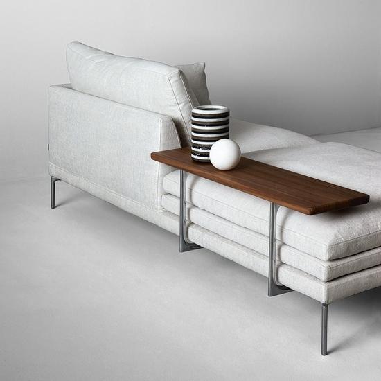 Zanotta William sofa shelf and metal structure