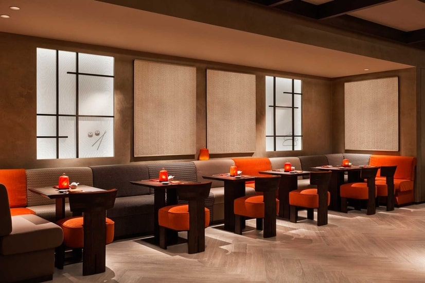 limited edition rugs and Armani nobu restaurant design