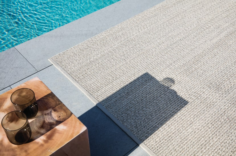 Poolside collection is a good solution for your outdoor luxury rugs
