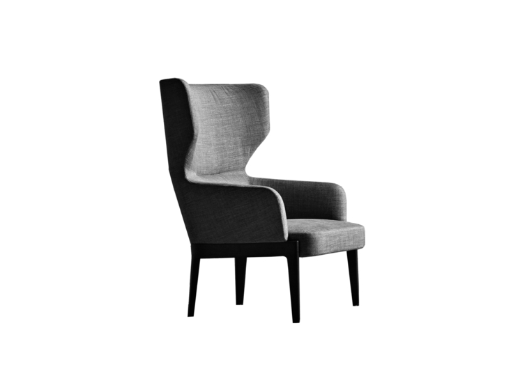 Molteni Chelsea armchair with fabric cover