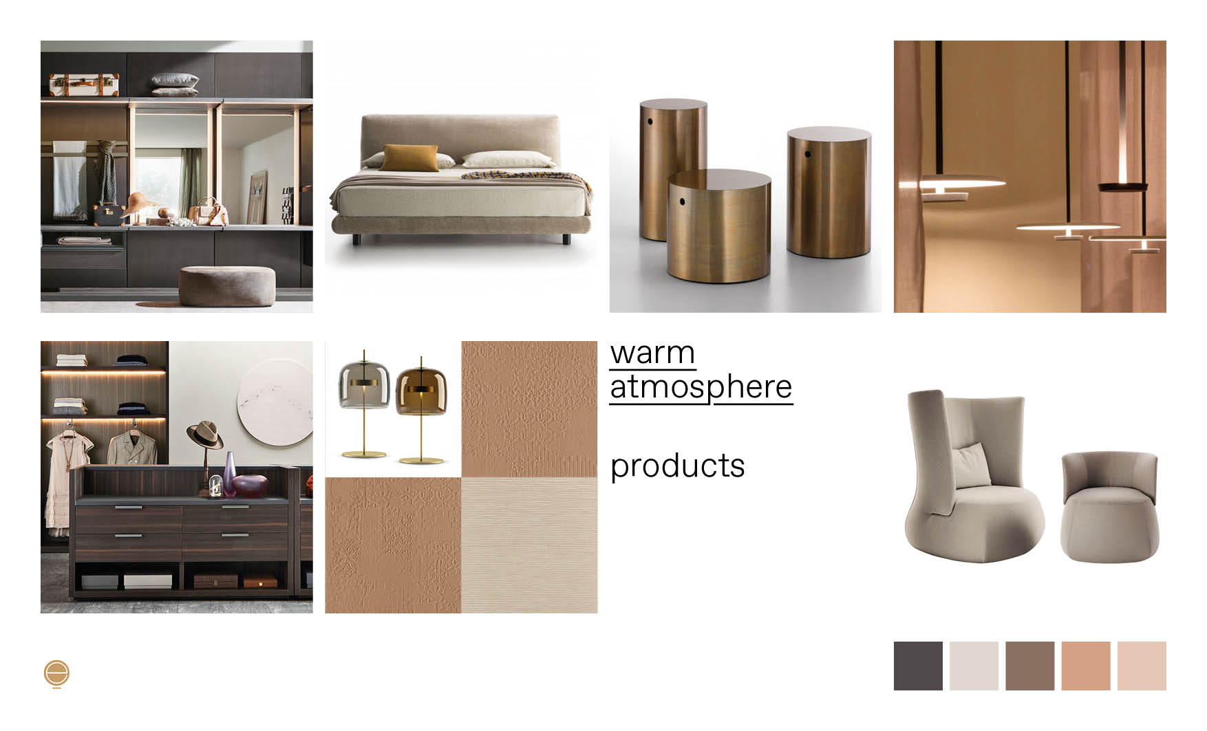 warm atmosphere Italian modern bedroom furniture composition designed by Esperiri Milano