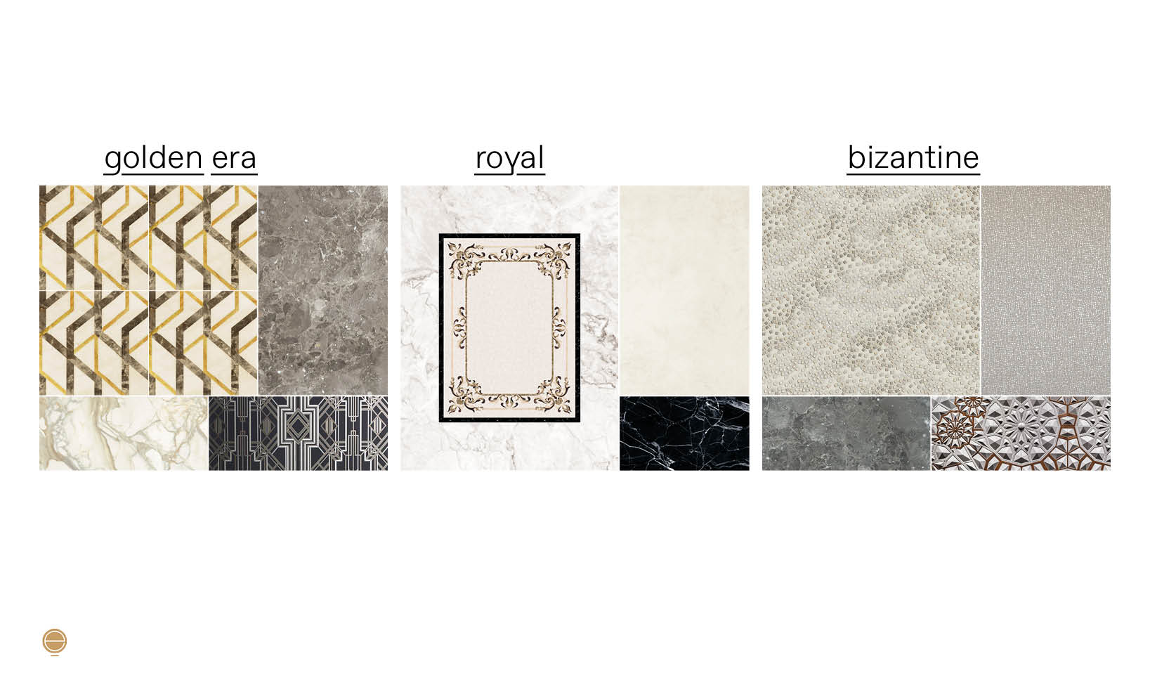 luxury Italian bathrooms concept moodboard designed by Esperiri Milano